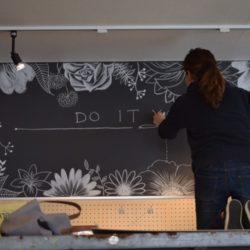 +DIY看板をチョークアートで!